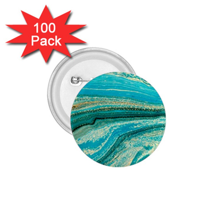 Mint,gold,marble,nature,stone,pattern,modern,chic,elegant,beautiful,trendy 1.75  Buttons (100 pack)