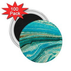 Mint,gold,marble,nature,stone,pattern,modern,chic,elegant,beautiful,trendy 2 25  Magnets (100 Pack)  by 8fugoso