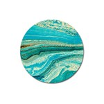 Mint,gold,marble,nature,stone,pattern,modern,chic,elegant,beautiful,trendy Magnet 3  (Round) Front