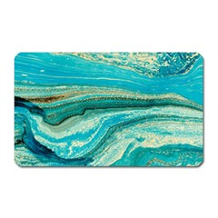 Mint,gold,marble,nature,stone,pattern,modern,chic,elegant,beautiful,trendy Magnet (Rectangular)
