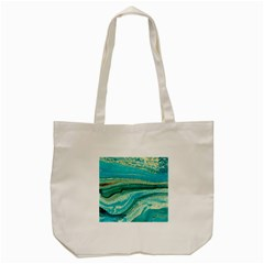 Mint,gold,marble,nature,stone,pattern,modern,chic,elegant,beautiful,trendy Tote Bag (Cream)
