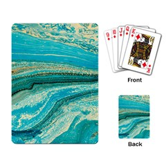 Mint,gold,marble,nature,stone,pattern,modern,chic,elegant,beautiful,trendy Playing Card