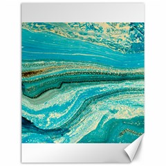 Mint,gold,marble,nature,stone,pattern,modern,chic,elegant,beautiful,trendy Canvas 12  x 16