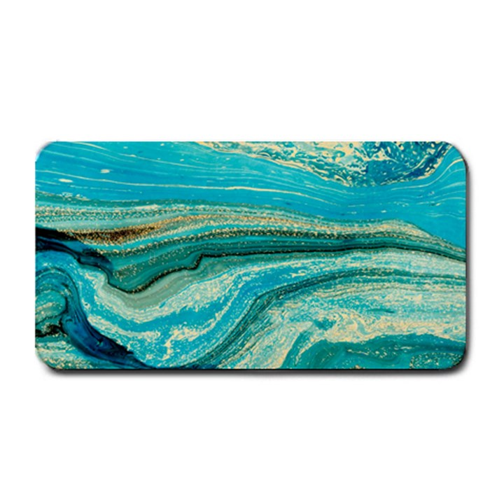 Mint,gold,marble,nature,stone,pattern,modern,chic,elegant,beautiful,trendy Medium Bar Mats