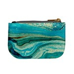 Mint,gold,marble,nature,stone,pattern,modern,chic,elegant,beautiful,trendy Mini Coin Purses Back