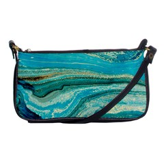 Mint,gold,marble,nature,stone,pattern,modern,chic,elegant,beautiful,trendy Shoulder Clutch Bags by 8fugoso