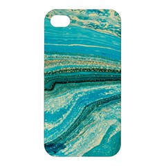 Mint,gold,marble,nature,stone,pattern,modern,chic,elegant,beautiful,trendy Apple iPhone 4/4S Premium Hardshell Case