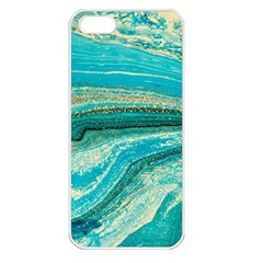 Mint,gold,marble,nature,stone,pattern,modern,chic,elegant,beautiful,trendy Apple iPhone 5 Seamless Case (White)