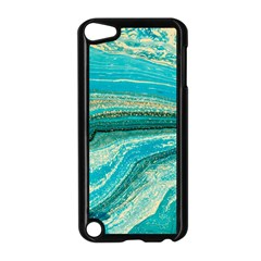 Mint,gold,marble,nature,stone,pattern,modern,chic,elegant,beautiful,trendy Apple iPod Touch 5 Case (Black)