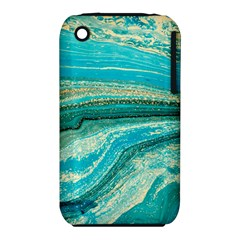 Mint,gold,marble,nature,stone,pattern,modern,chic,elegant,beautiful,trendy iPhone 3S/3GS