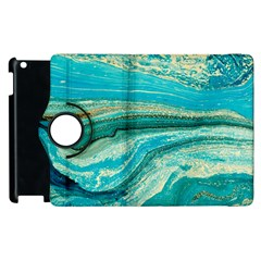 Mint,gold,marble,nature,stone,pattern,modern,chic,elegant,beautiful,trendy Apple Ipad 2 Flip 360 Case