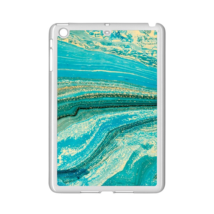 Mint,gold,marble,nature,stone,pattern,modern,chic,elegant,beautiful,trendy iPad Mini 2 Enamel Coated Cases