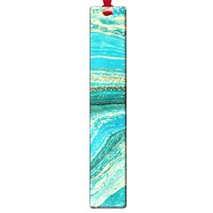 Mint,gold,marble,nature,stone,pattern,modern,chic,elegant,beautiful,trendy Large Book Marks