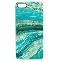 Mint,gold,marble,nature,stone,pattern,modern,chic,elegant,beautiful,trendy Apple iPhone 5 Hardshell Case with Stand