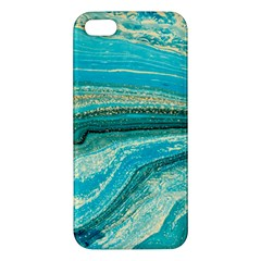 Mint,gold,marble,nature,stone,pattern,modern,chic,elegant,beautiful,trendy Apple iPhone 5 Premium Hardshell Case
