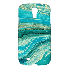 Mint,gold,marble,nature,stone,pattern,modern,chic,elegant,beautiful,trendy Samsung Galaxy S4 I9500/i9505 Hardshell Case