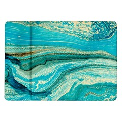 Mint,gold,marble,nature,stone,pattern,modern,chic,elegant,beautiful,trendy Samsung Galaxy Tab 10.1  P7500 Flip Case