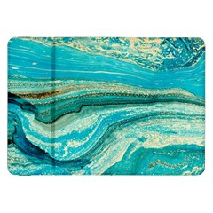 Mint,gold,marble,nature,stone,pattern,modern,chic,elegant,beautiful,trendy Samsung Galaxy Tab 8.9  P7300 Flip Case