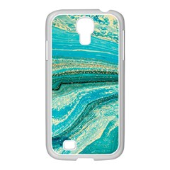 Mint,gold,marble,nature,stone,pattern,modern,chic,elegant,beautiful,trendy Samsung GALAXY S4 I9500/ I9505 Case (White)