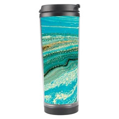 Mint,gold,marble,nature,stone,pattern,modern,chic,elegant,beautiful,trendy Travel Tumbler