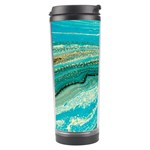 Mint,gold,marble,nature,stone,pattern,modern,chic,elegant,beautiful,trendy Travel Tumbler Left