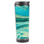Mint,gold,marble,nature,stone,pattern,modern,chic,elegant,beautiful,trendy Travel Tumbler Right
