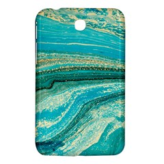 Mint,gold,marble,nature,stone,pattern,modern,chic,elegant,beautiful,trendy Samsung Galaxy Tab 3 (7 ) P3200 Hardshell Case
