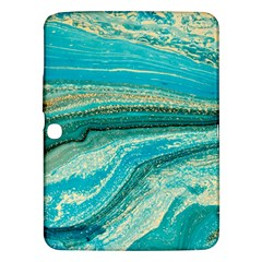 Mint,gold,marble,nature,stone,pattern,modern,chic,elegant,beautiful,trendy Samsung Galaxy Tab 3 (10.1 ) P5200 Hardshell Case