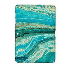 Mint,gold,marble,nature,stone,pattern,modern,chic,elegant,beautiful,trendy Samsung Galaxy Tab 2 (10.1 ) P5100 Hardshell Case