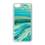 Mint,gold,marble,nature,stone,pattern,modern,chic,elegant,beautiful,trendy Apple iPhone 5C Seamless Case (White) Front