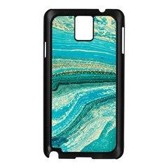 Mint,gold,marble,nature,stone,pattern,modern,chic,elegant,beautiful,trendy Samsung Galaxy Note 3 N9005 Case (Black)