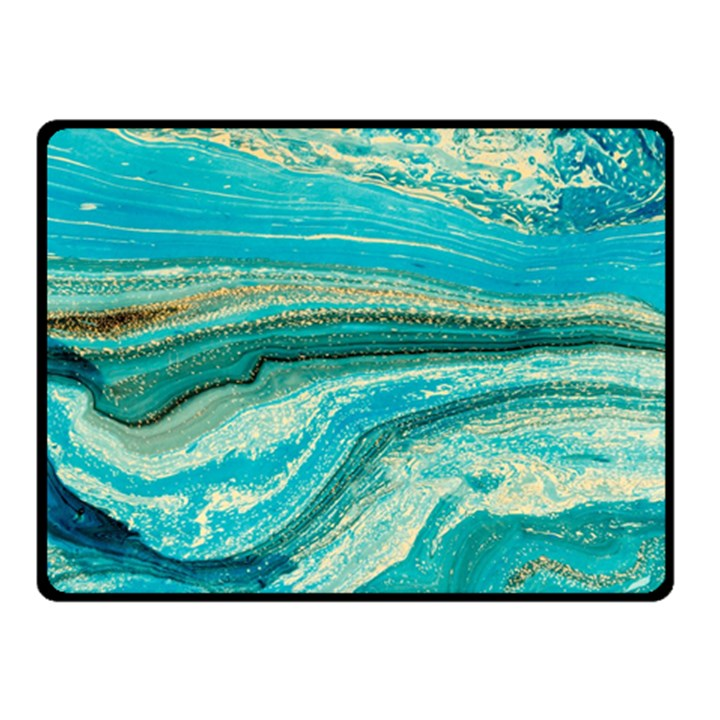 Mint,gold,marble,nature,stone,pattern,modern,chic,elegant,beautiful,trendy Double Sided Fleece Blanket (Small)