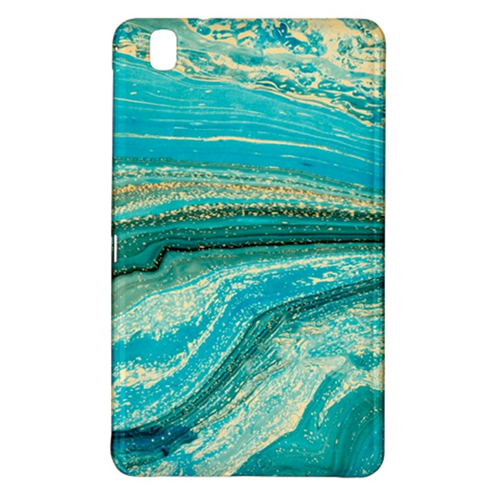 Mint,gold,marble,nature,stone,pattern,modern,chic,elegant,beautiful,trendy Samsung Galaxy Tab Pro 8.4 Hardshell Case