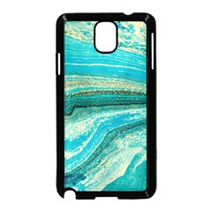 Mint,gold,marble,nature,stone,pattern,modern,chic,elegant,beautiful,trendy Samsung Galaxy Note 3 Neo Hardshell Case (Black)
