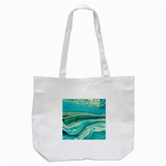 Mint,gold,marble,nature,stone,pattern,modern,chic,elegant,beautiful,trendy Tote Bag (White)