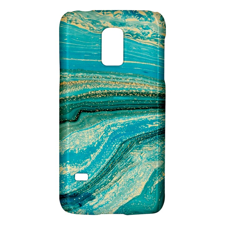 Mint,gold,marble,nature,stone,pattern,modern,chic,elegant,beautiful,trendy Galaxy S5 Mini
