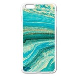 Mint,gold,marble,nature,stone,pattern,modern,chic,elegant,beautiful,trendy Apple iPhone 6 Plus/6S Plus Enamel White Case Front