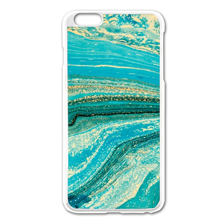 Mint,gold,marble,nature,stone,pattern,modern,chic,elegant,beautiful,trendy Apple iPhone 6 Plus/6S Plus Enamel White Case