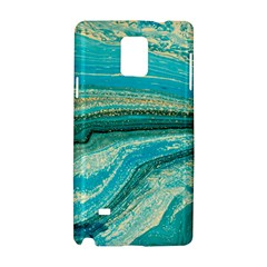 Mint,gold,marble,nature,stone,pattern,modern,chic,elegant,beautiful,trendy Samsung Galaxy Note 4 Hardshell Case