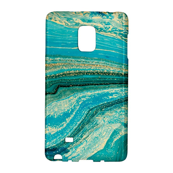 Mint,gold,marble,nature,stone,pattern,modern,chic,elegant,beautiful,trendy Galaxy Note Edge