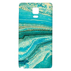 Mint,gold,marble,nature,stone,pattern,modern,chic,elegant,beautiful,trendy Galaxy Note 4 Back Case