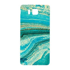 Mint,gold,marble,nature,stone,pattern,modern,chic,elegant,beautiful,trendy Samsung Galaxy Alpha Hardshell Back Case