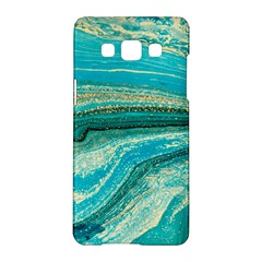 Mint,gold,marble,nature,stone,pattern,modern,chic,elegant,beautiful,trendy Samsung Galaxy A5 Hardshell Case