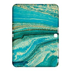 Mint,gold,marble,nature,stone,pattern,modern,chic,elegant,beautiful,trendy Samsung Galaxy Tab 4 (10 1 ) Hardshell Case