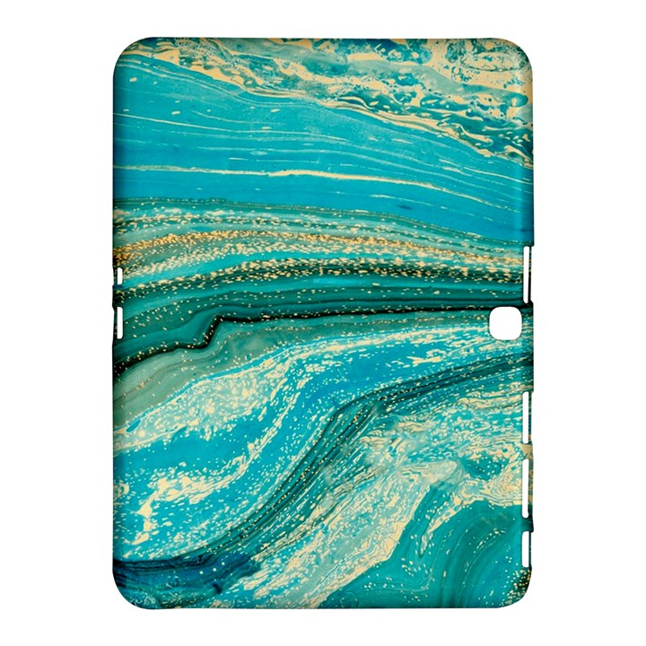 Mint,gold,marble,nature,stone,pattern,modern,chic,elegant,beautiful,trendy Samsung Galaxy Tab 4 (10.1 ) Hardshell Case