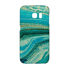 Mint,gold,marble,nature,stone,pattern,modern,chic,elegant,beautiful,trendy Galaxy S6 Edge