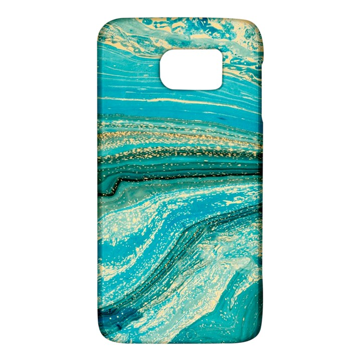 Mint,gold,marble,nature,stone,pattern,modern,chic,elegant,beautiful,trendy Galaxy S6