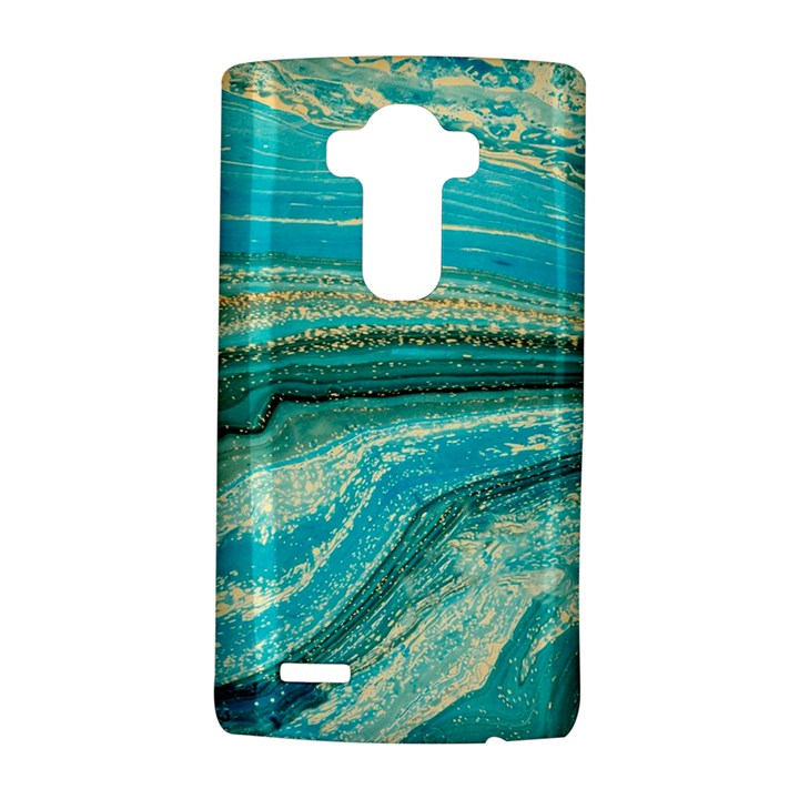 Mint,gold,marble,nature,stone,pattern,modern,chic,elegant,beautiful,trendy LG G4 Hardshell Case