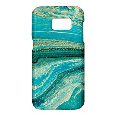 Mint,gold,marble,nature,stone,pattern,modern,chic,elegant,beautiful,trendy Samsung Galaxy S7 Hardshell Case  by 8fugoso