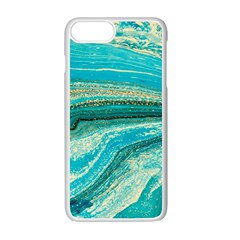 Mint,gold,marble,nature,stone,pattern,modern,chic,elegant,beautiful,trendy Apple iPhone 7 Plus Seamless Case (White)